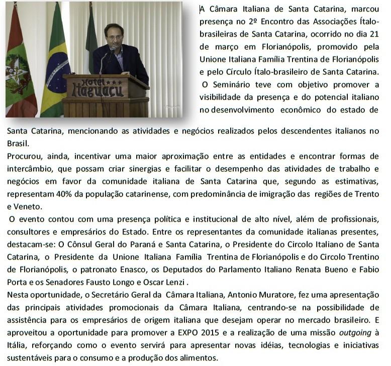 Encontro associações italo brasileiras