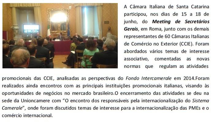 Meeting secretarios gerais 2014